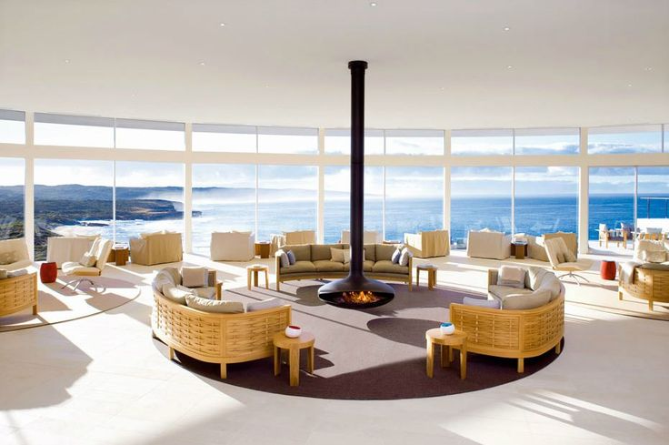 #cheminee #gyrofocus foyer central suspendu pivotant #design contemporain