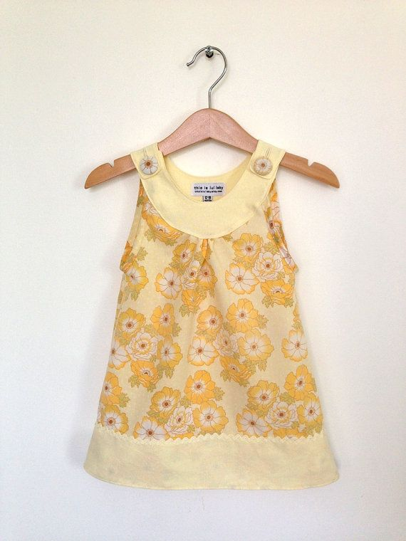 Baby dress 12 to 18 months, retro baby clothes, vintage childrens clothes UK…