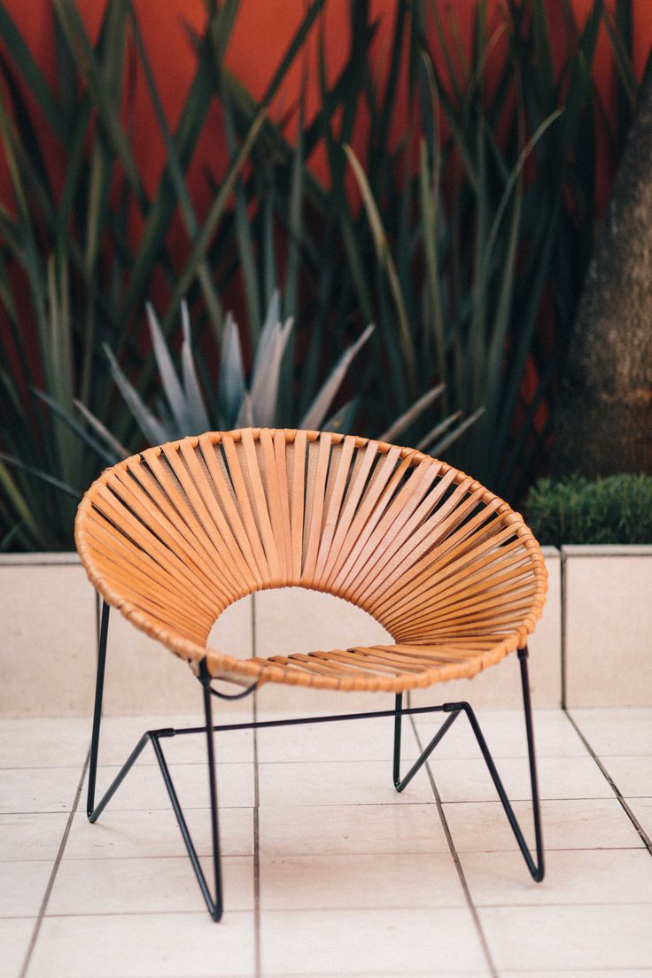 Acapulco chair outdoor - Handcrafted In Mexico By The Coyoac N Design Studio The Acapulco Chair Synonymous With Laid Back