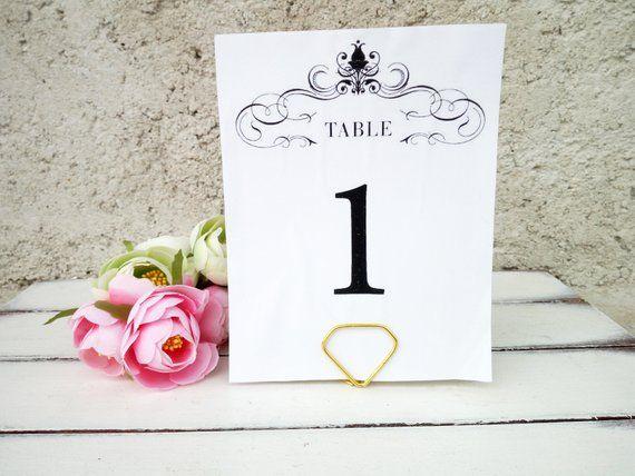 Diamond Table Number Card Holder Wedding Menu Stand Special Etsy Wedding Table Number Card Holders Gold Table Numbers Wedding Card Holder