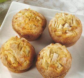 Receita de Queques de Maçã -Estes queques deliciosos são uma excelente guloseima, para servir com bebidas a qualquer hora do dia ou para mandar para o lanche dos seus filhos.