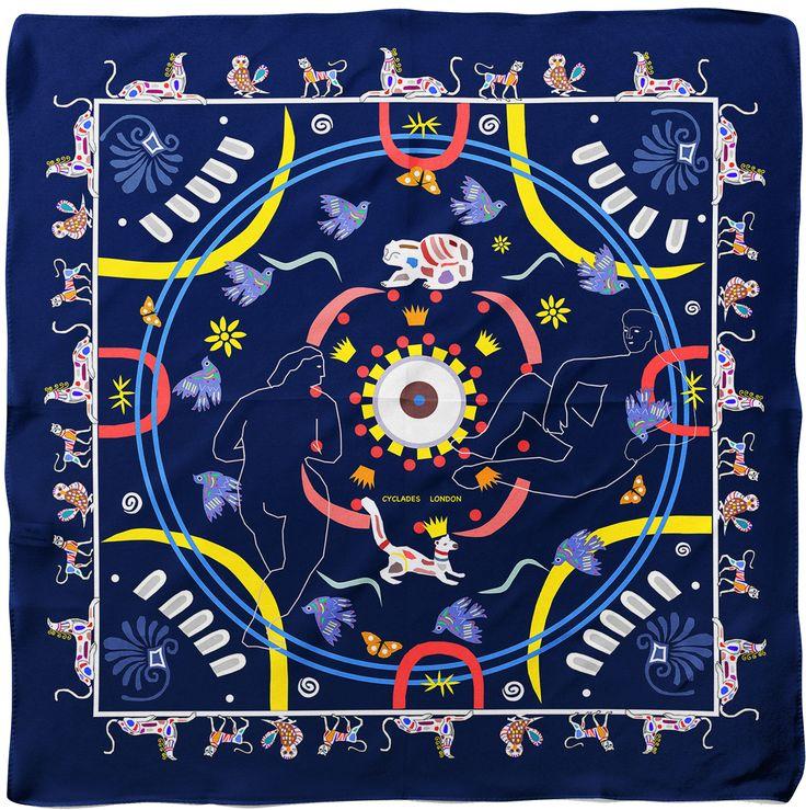 CYCLADES Animal Kingdom Silk Scarf