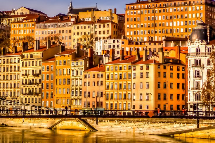 La Saône River, Lyon, France