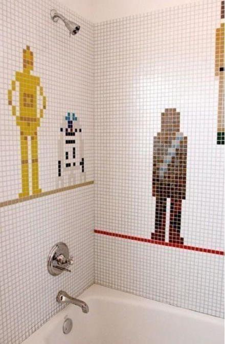 Star Wars shower paintings