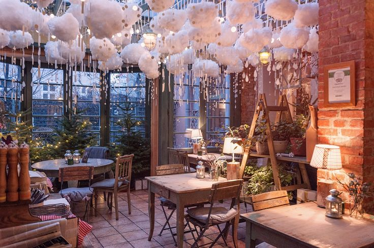 Winter is still not over in Poland! Look at our fluffy, snowy clouds, they are simply adorable :) / Zielona Weranda caffe&restaurant, Poznan, Poland.   --> Check our website! http://werandafamily.com/en/  #werandafamily #restaurant #decor #decoration #interiordesign #winter #snow #food