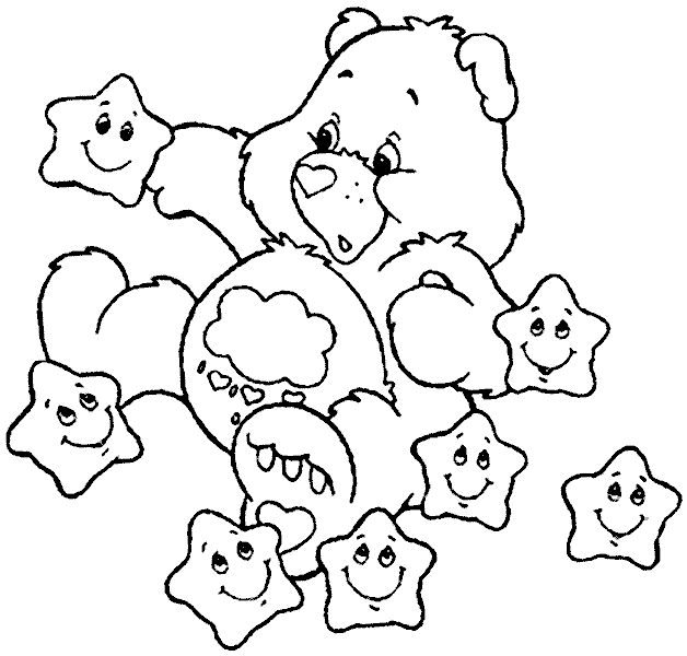 Colouring Pages Care Bears Coloring Printable Sheets