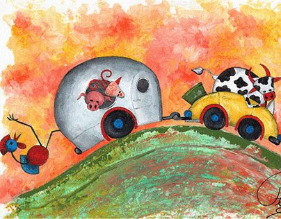 """Check out new work on my @Behance portfolio: """"Bert and his friends...""""…"""