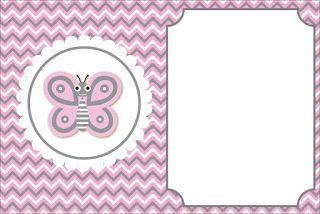 Pink Butterfly Free Printable Mini Kit.