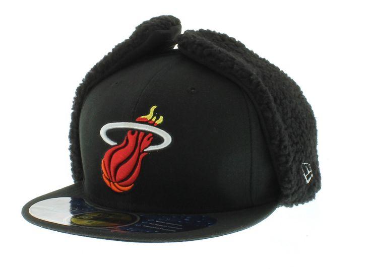 Miami Heat hats   Miami Heat Team Colors The DWR DoGear3 59fifty 5950 New Era Cap New ...