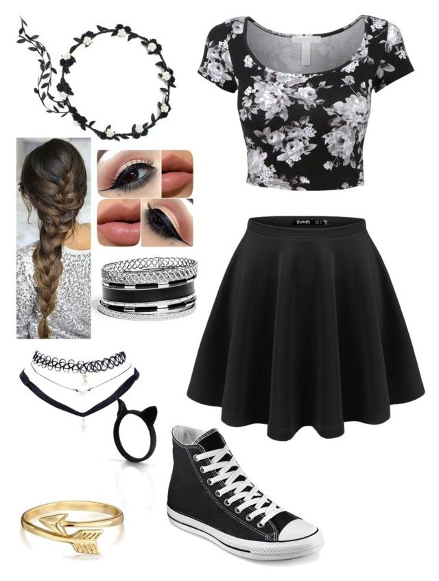 Untitled #57 by weird-fangirl on Polyvore featuring polyvore, fashion, style, Converse, GUESS, Bling Jewelry and Wet Seal