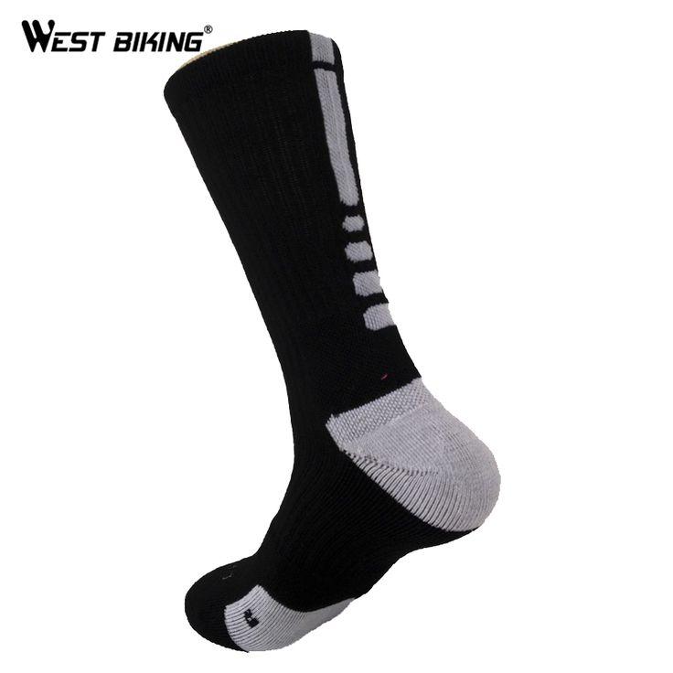 WEST BIKING New Style Bike Sock Outdoor Breathable Cycling Sock Badminton Football Basketball Walking Running Tennis Sports Sock