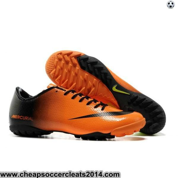 New Nike Mercurials Nike Mercurial Victory IX TF Soccer Boots Orange Black Green Sale Discount Cleats