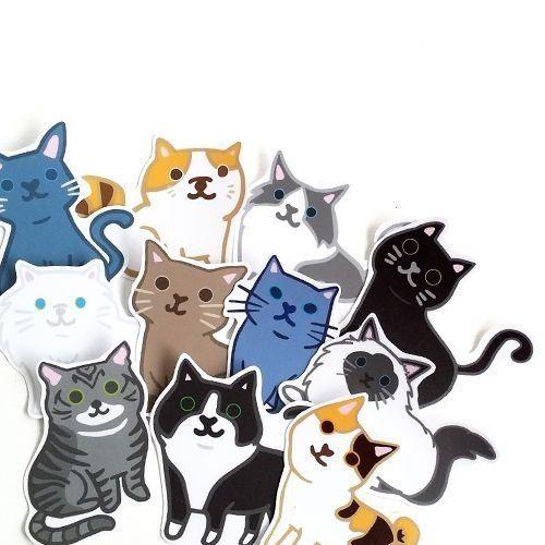 1212 fun design waterproof stickers funny stickers everywhere cat comes fuko neko pegatina