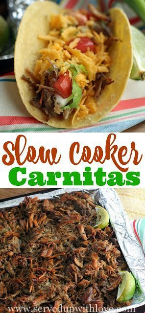 Slow Cooker Carnitas recipe from Served Up With Love using Smithfield Seasoned Carnitas are jam packed with flavor. #RealFoodRealFast #IC #ad