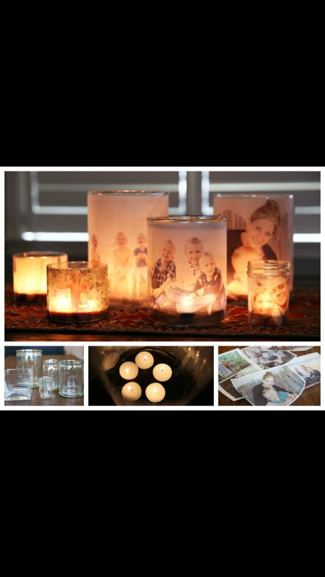 Family picture DIY  candles