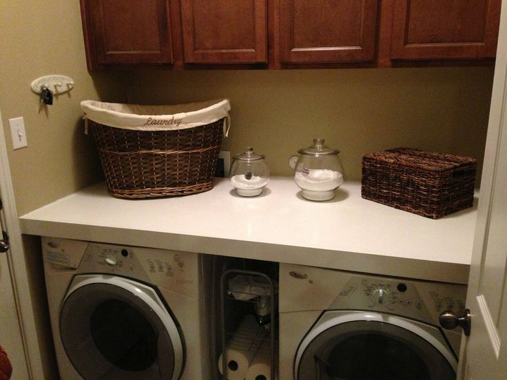 1000 images about laundry room on pinterest laundry for Laundry room countertop over washer and dryer