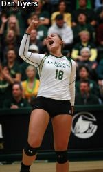 At 19-0, the Colorado State volleyball team moved up three spots to No. 9 in the AVCA Division I Coaches Top 25 Poll, its highest national ranking since 2004.
