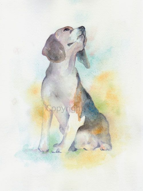 Dog, dog print, animal print, giclee, art, Watercolor, watercolor ...