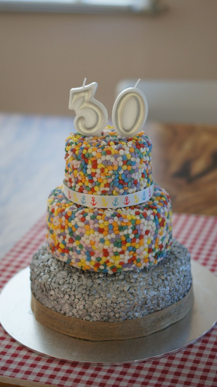How to decorate a cake with a sequin effect