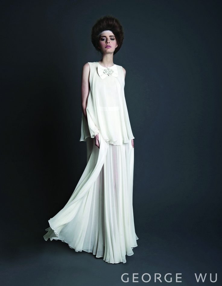Tiered-Ink Dress. Made in Australia.  Repin for your own #wedding #inspiration.  #bridal #couture #design #gowns