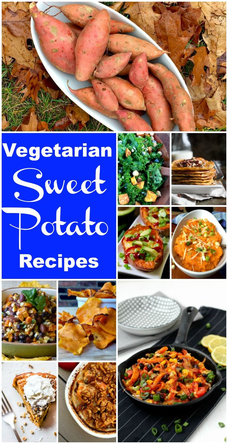 A varied and cozy collection of satisfying and salacious sweet potato recipes, all vegetarian.
