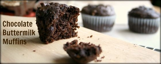 Chocolate Buttermilk Muffins-Taste like Costco's but smaller since you cut them in half anyway.