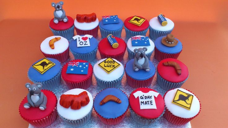 Australian Themed Novelty Cup Cakes « Susie's Cakes