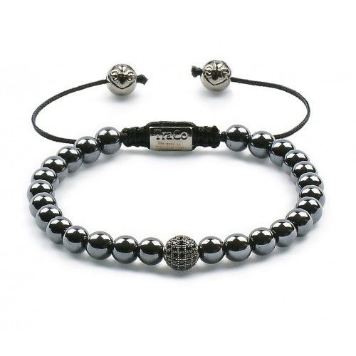 Hematite & Black Zircon Ball & Gunmetal plating