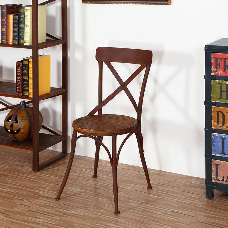 amerikaanse antieke smeedijzeren stoelen hout
