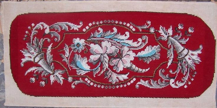 Vintage Bead work / Stitch work Panel Loosely Mounted Onto Card Backing