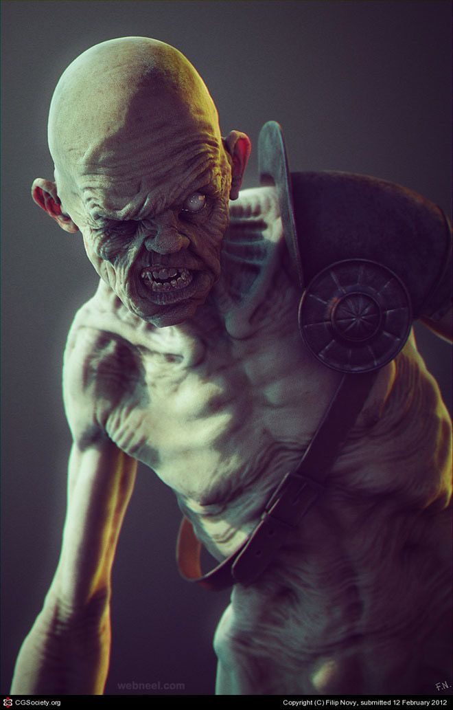 25 Most Scariest 3D Character Design Examples for you