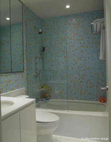 Full bathroom renovation by Celia Berliner Design LLC.