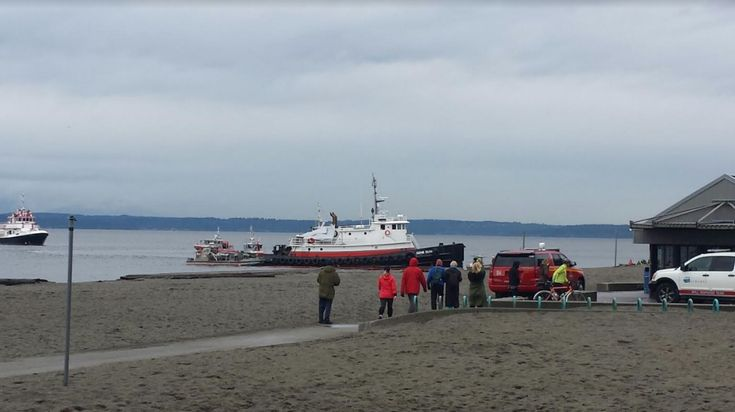 Earlier in the morning, the Gene Dunlap intentionally grounded on the sand and gravel beach off Golden Gardens park and crews from U.S. Coast Guard, Seattle Fire Department and Seattle Police Department were quickly on scene to keep the vessel from sinking. According to Coast Guard spokesman Petty Officer Second Cass Jonathan Klingenberg, the tug was being towed when it started taking on water…