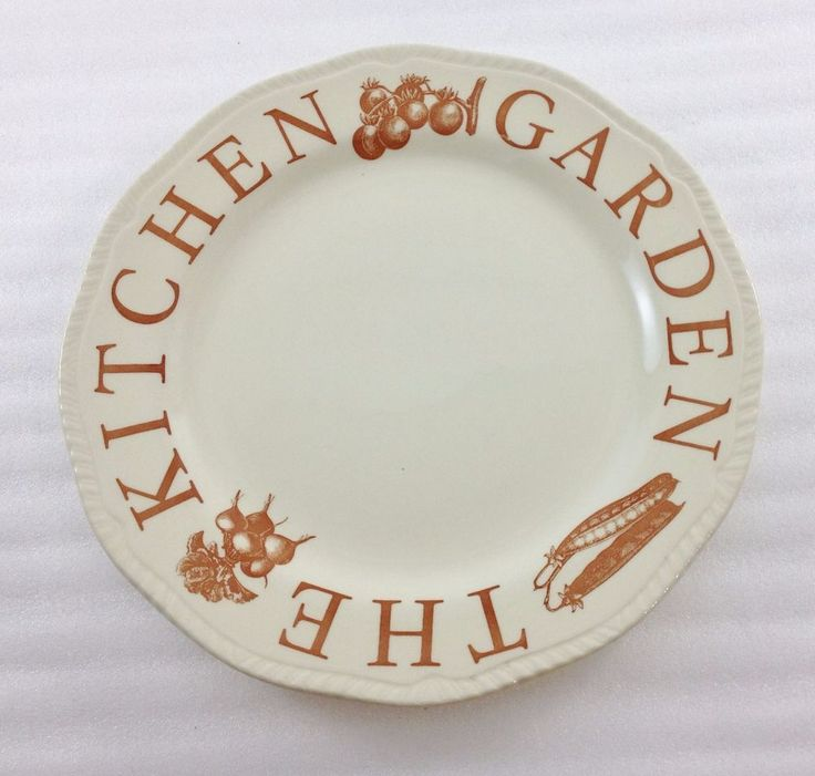 """Wood & Sons The Kitchen Garden Brown Dinner Plate 11"""" Made in England #WoodSons"""