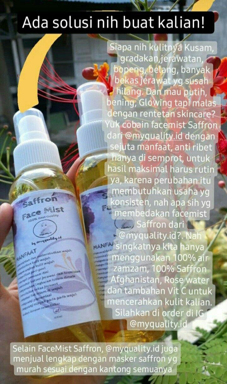Saffron Perawatan Kulit Jerawat Produk Jerawat
