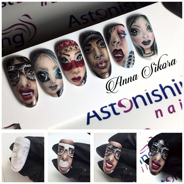 Face gel design painting