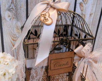Large Wedding Birdcage Card Holder / Wedding Card Box / Large