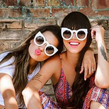 Winla Revestimento de óculos de Sol Olho de Gato Mulheres Óculos De Sol Redondos Quadro Óculos Espelho Da Forma Do Vintage óculos de Sol óculos Goggle Oculos Feminino(China (Mainland))