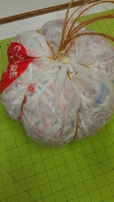 Doodling In My Mind: Recycle Project: Papier Mache Pumpkin From the Kitchen