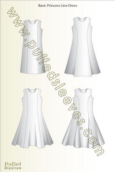 Basic Princess Line Dress