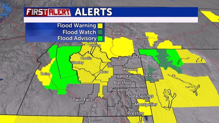 Flood Warning for Teton River