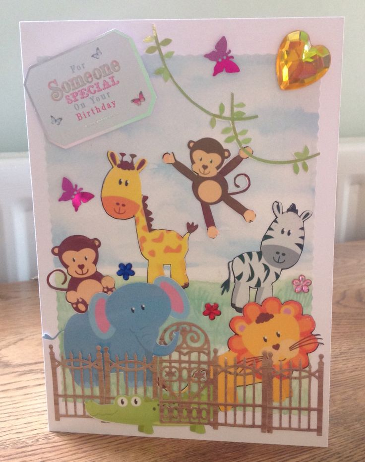 Zoo birthday card