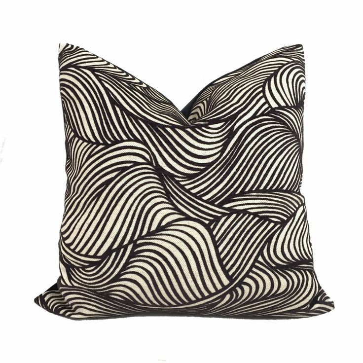 Cowtan & Tout Jane Churchill Modern Dunes Cut Velvet Black Beige Pillow Cover