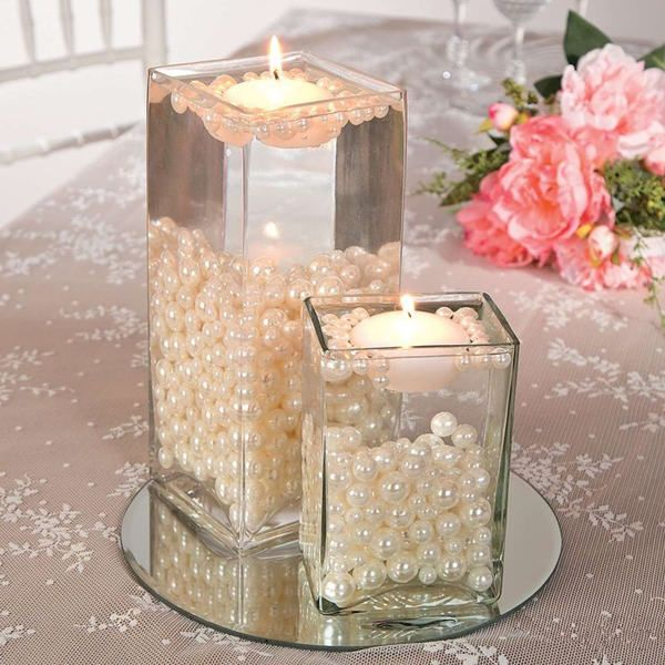 Pearl Sphere Centerpiece - For Modern Brides: 25 Fabulous Wedding Centerpieces Without Flowers - EverAfterGuide