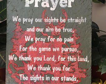 Hunters Prayer, Deer Hunters, Bird Hunters, Country Sign, Christian Decor