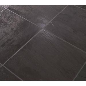 Black Slate 8 mm Thick x 11.54 in. Wide x 46.28 in. Length Laminate Flooring (18.55 sq. ft. / case), FG8090 at The Home Depot - Mobile. Flooring idea for bathroom