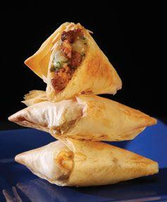 Chorizo Phyllo Triangles