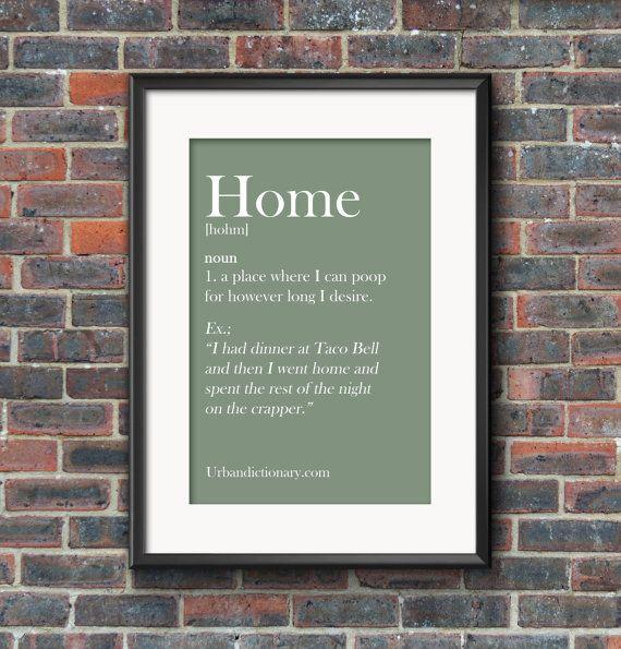Urban Dictionary Print - Home