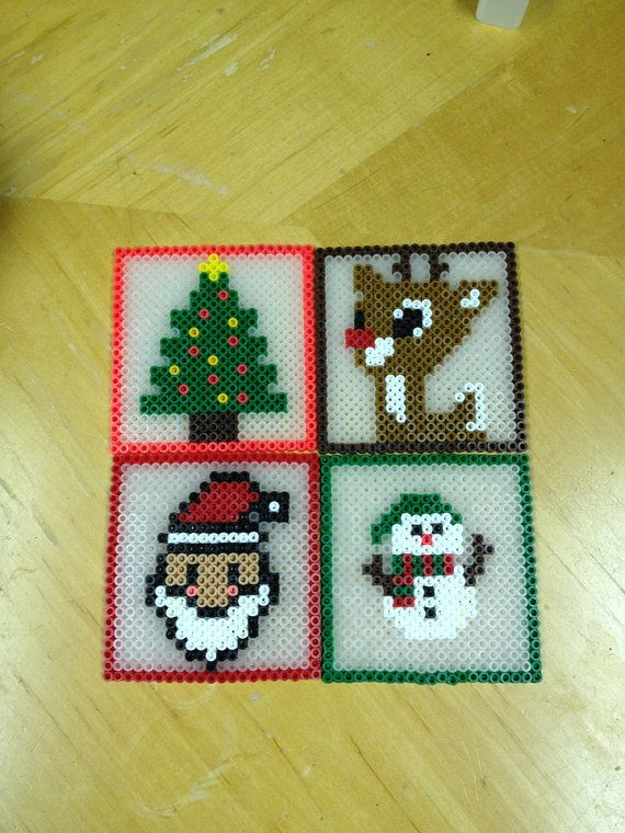 Christmas Coasters perler beads by kiimberrr