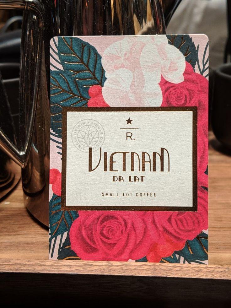 Vietnamese coffee design Starbucks Reserve Coffee